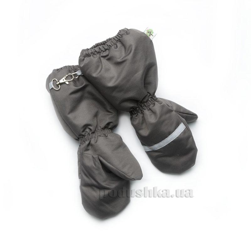Варежки на меху Модный карапуз 03-00472 графит