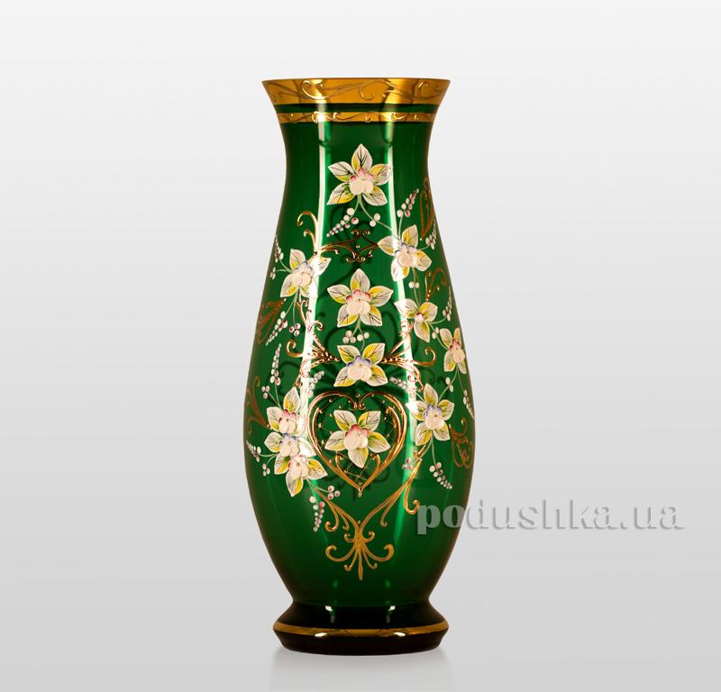 Ваза Edera green 350 mm Bohemia Sklo 17-350-038