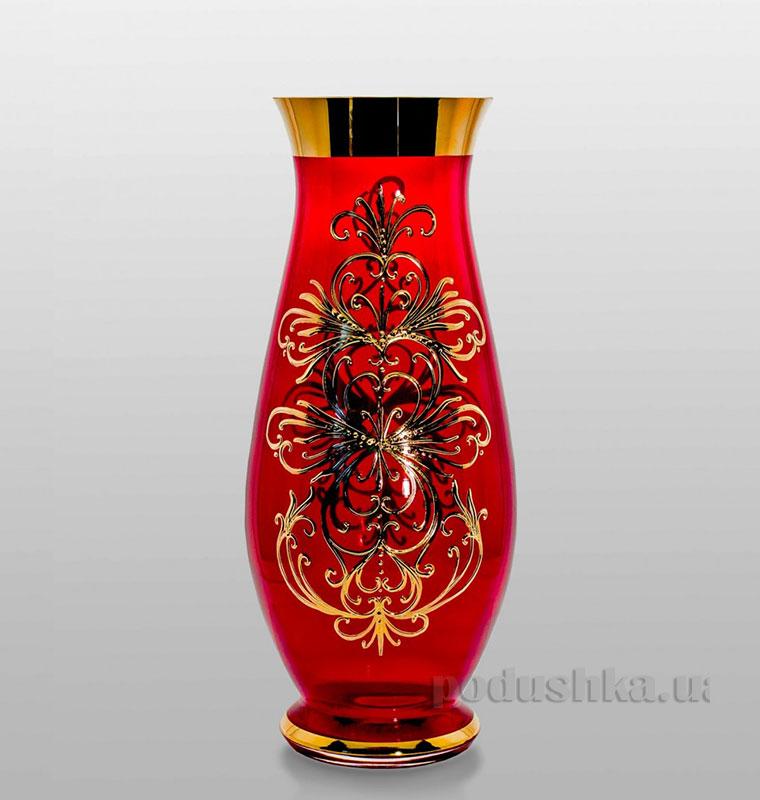 Ваза Edera red 350 mm Bohemia Sklo Королевский смальт 17-350-044   Bohemia Sklo