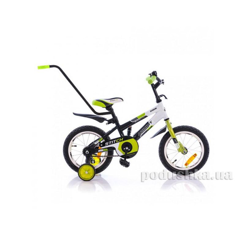 """Велосипед 12"""" Stitch A PУ Салатово-черный Azimut"""