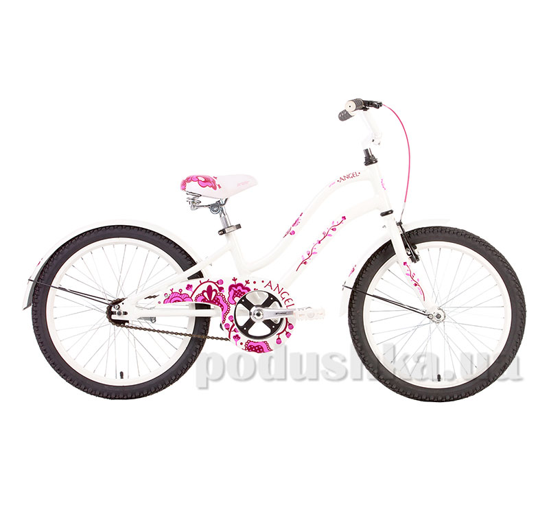 Велосипед 20 Pride Angel 2014 бело-розовый