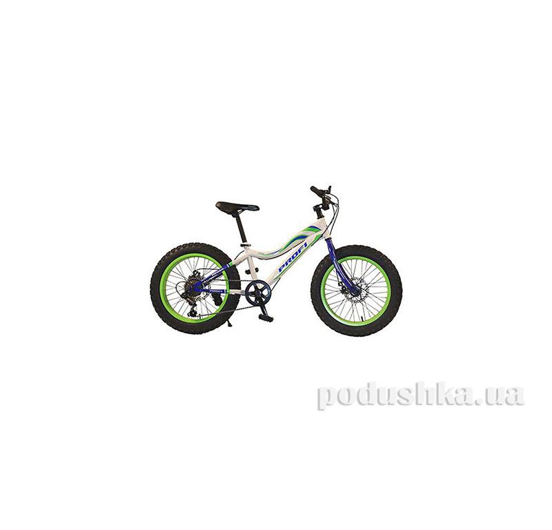 Велосипед 20 Profi 20XD05-1 Белый/Зеленый