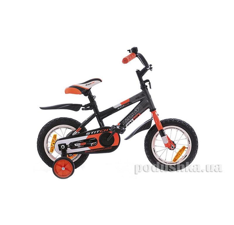 Велосипед  Stitch 18 Графит-оранжевый Azimut