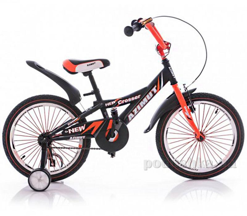 Велосипед Azimut 18 Crosser Графит-оранжевый