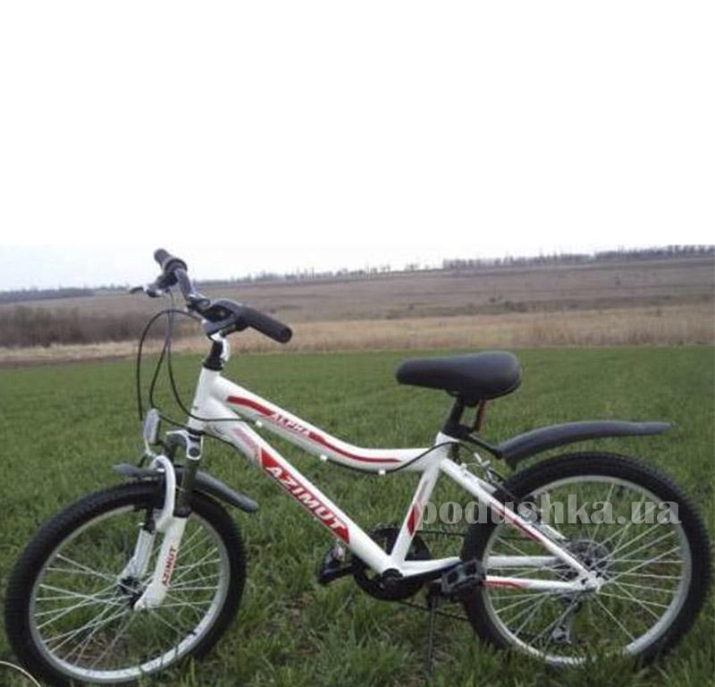 Велосипед Azimut Alpha 20 Белый с красным