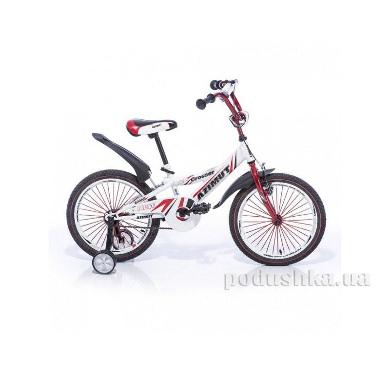 Велосипед Azimut Crosser 18 Бело-красный