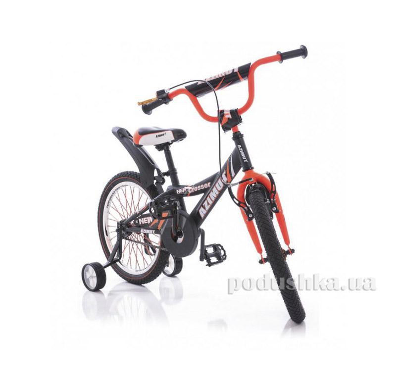 Велосипед Azimut Crossere 14 Графит-оранжевый