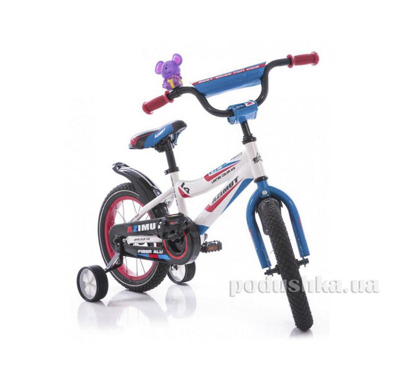 Велосипед Azimut Fiber 12 Бело-голубой
