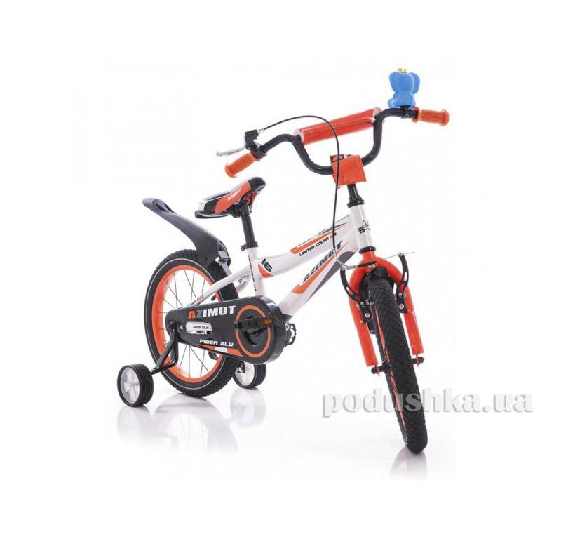 Велосипед Azimut Fiber 16 Бело-оранжевый