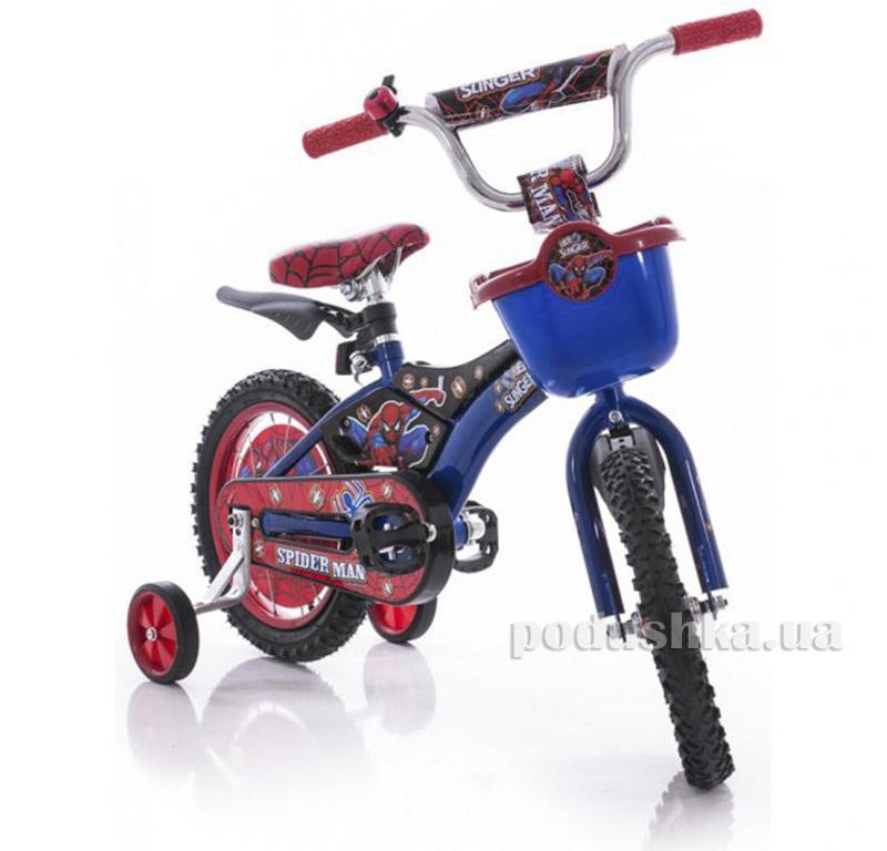 Велосипед Azimut Pilot 16 Спайдермен Синий