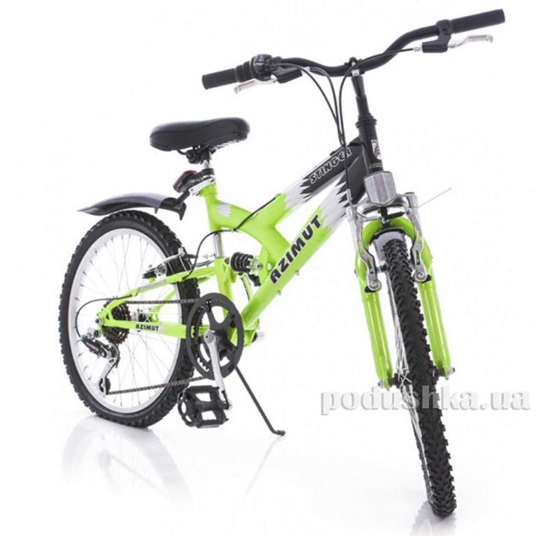 Велосипед Azimut Stinger 20 Графит зеленый