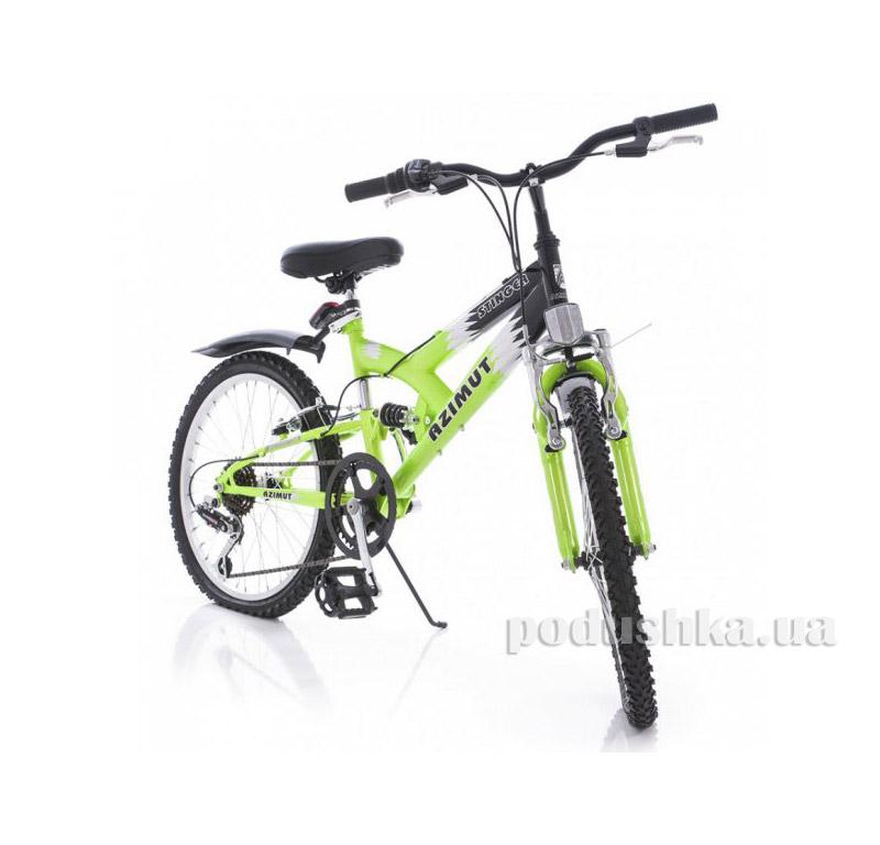 Велосипед Azimut Stinger 20 Салатово-белый