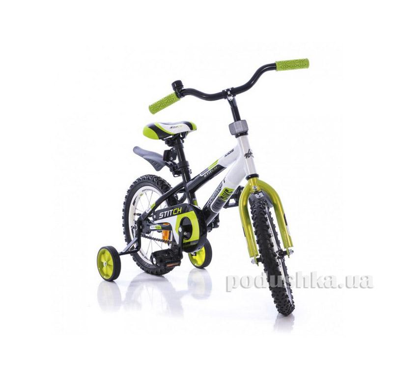 Велосипед Azimut Stitch 16 Салатово-черный