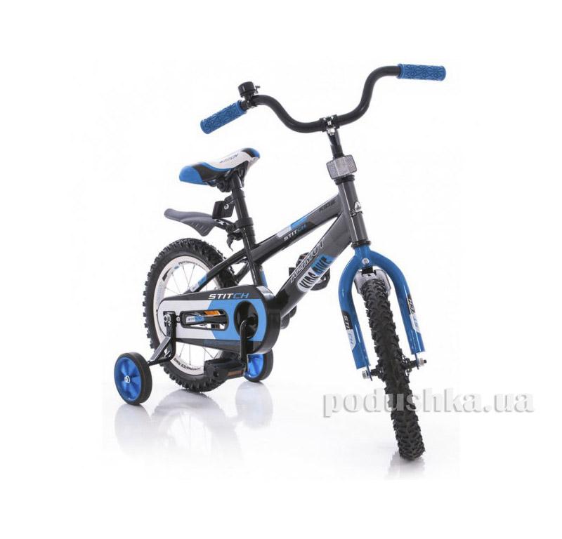 Велосипед Azimut Stitch 16 Серо-голубой