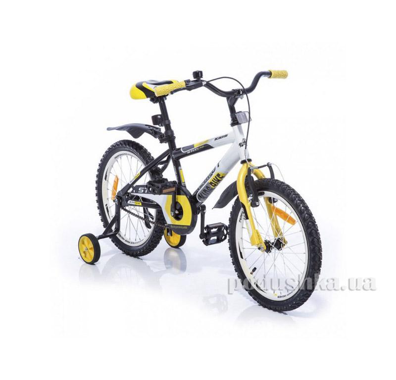 Велосипед Azimut Stitch 18 Желто-бело-черный