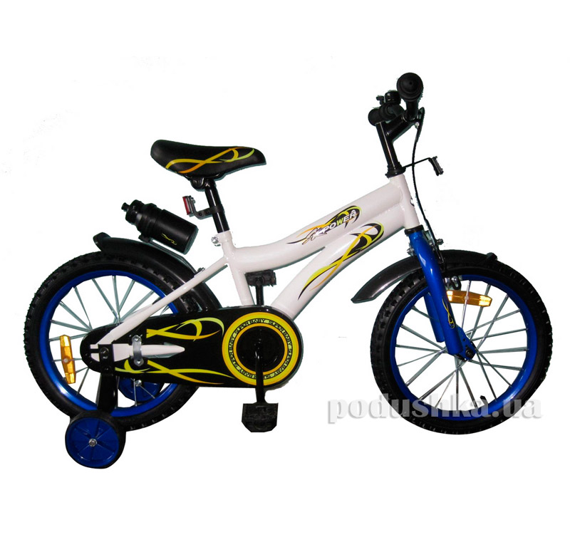 Велосипед двухколёсный White with Blue BabyHit Condor 10173