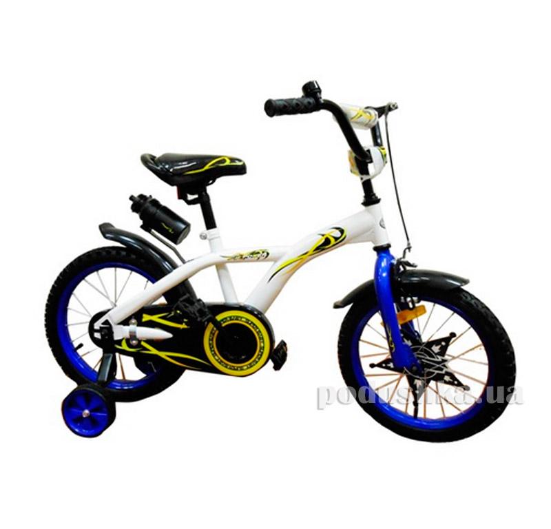 Велосипед двухколёсный White with Blue BabyHit Eagle 10176