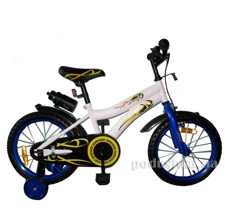 Велосипед двухколёсный White with Blue BabyHit Swallow 10170