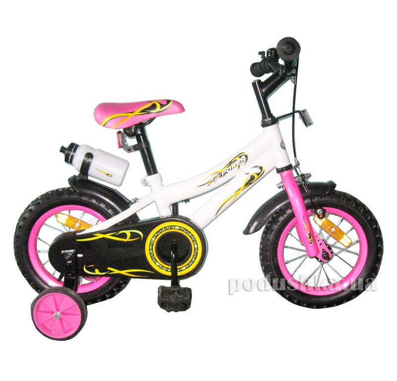 Велосипед двухколёсный White with Pink BabyHit Condor 10174
