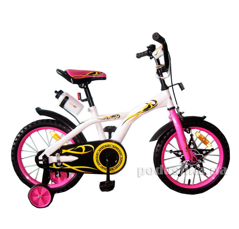Велосипед двухколёсный White with Pink BabyHit Eagle 10177