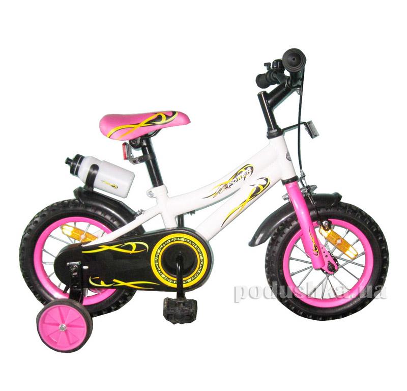 Велосипед двухколёсный White with Pink BabyHit Swallow 10171