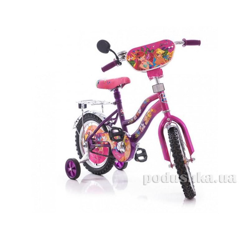 Велосипед Mustang Winx 12 Розово-сиреневый