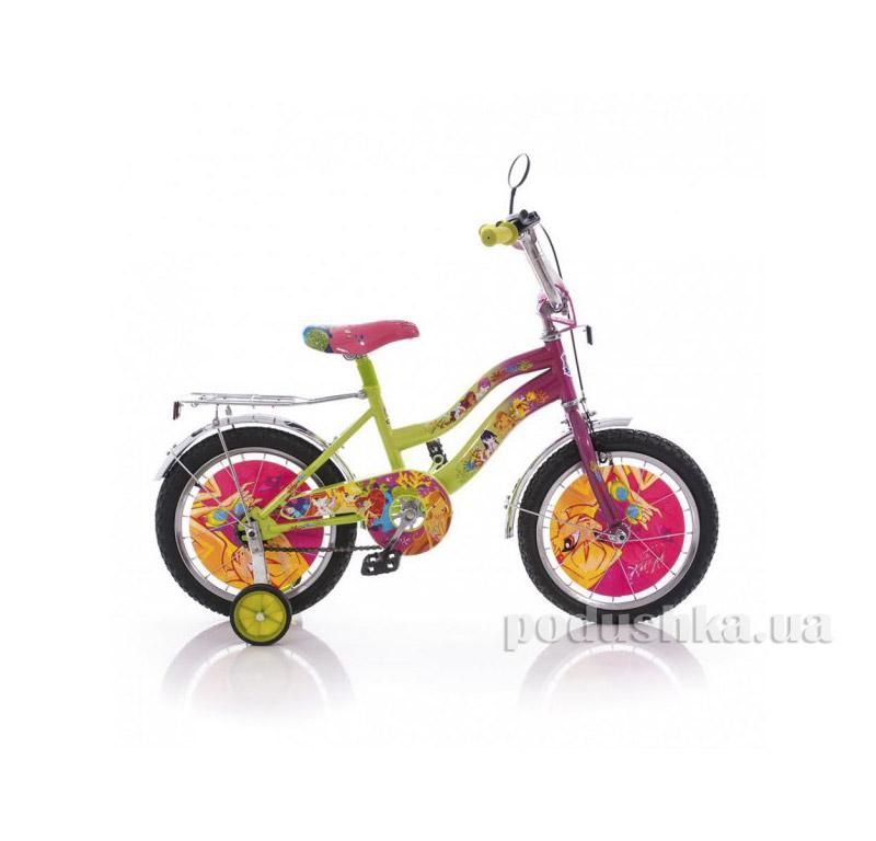Велосипед Mustang Winx 14 Розово-салатовый