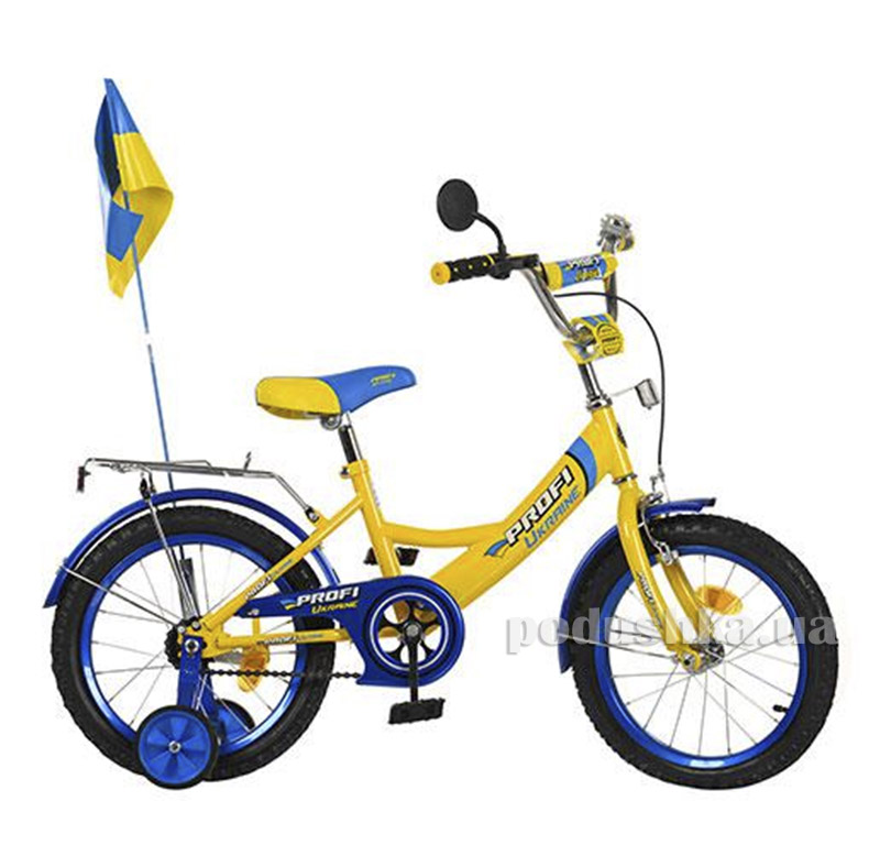 Велосипед Profi Trike P1449 UK-2 14 Ukraine Желтый