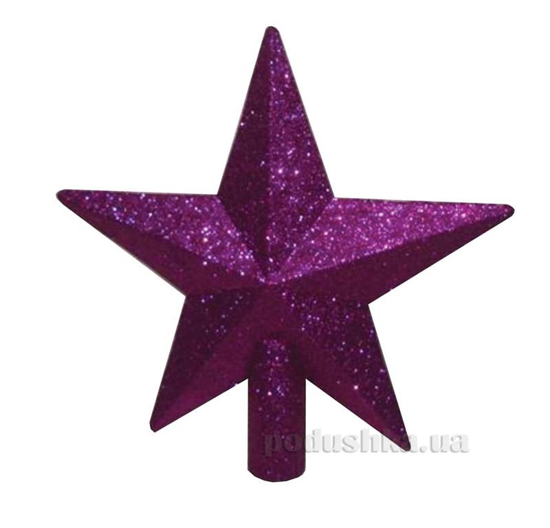 Верхушка фиолетовая для украшения елки Звезда Новогодько 971640