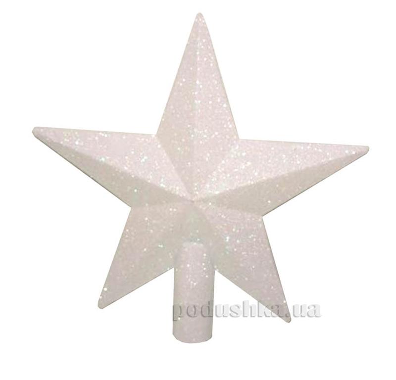 Верхушка перламутровая для украшения елки Звезда Новогодько 971649