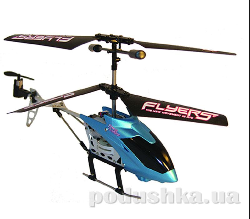 Вертолет на ИК управлении с пультом-перчаткой - Falcon (синий, 3-канальный, 20 см, с гироскопом)