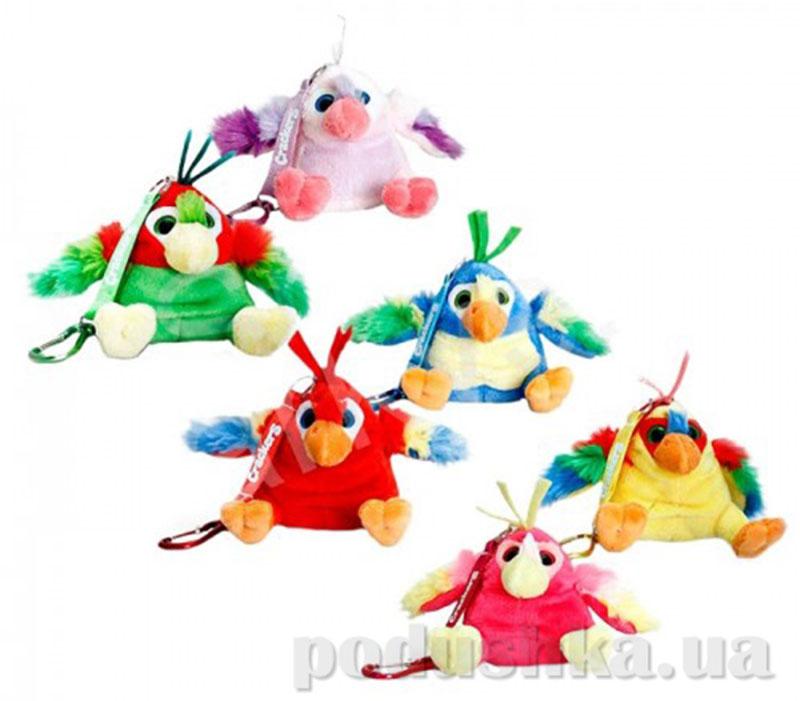 Веселые попугаи игрушка с клипсой 6 в ассортименте Keel Toys