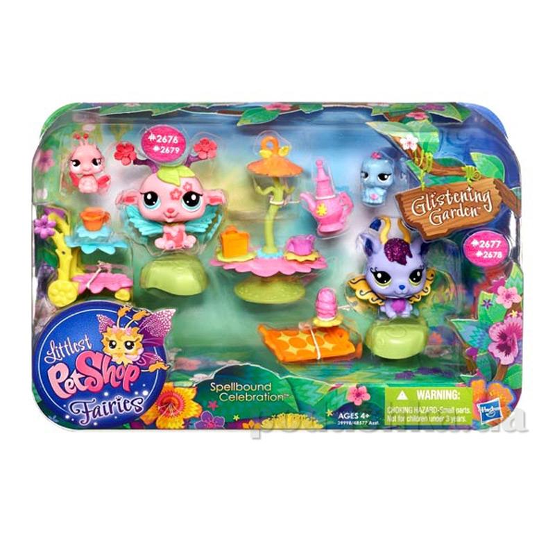 Волшебный набор со зверюшками феями 48577 Littlest pet shop Hasbro