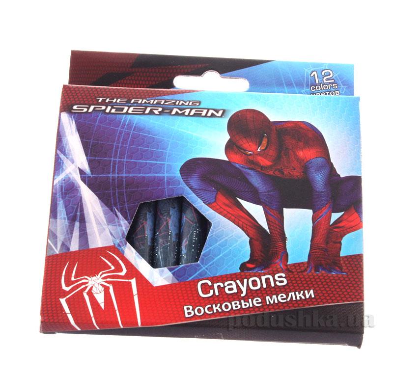Восковые мелки 12 цветов Spider-man SM4U-12S-2012B
