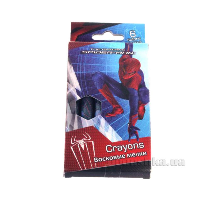 Восковые мелки 6 цветов Spider-man SM4U-12S-2006B