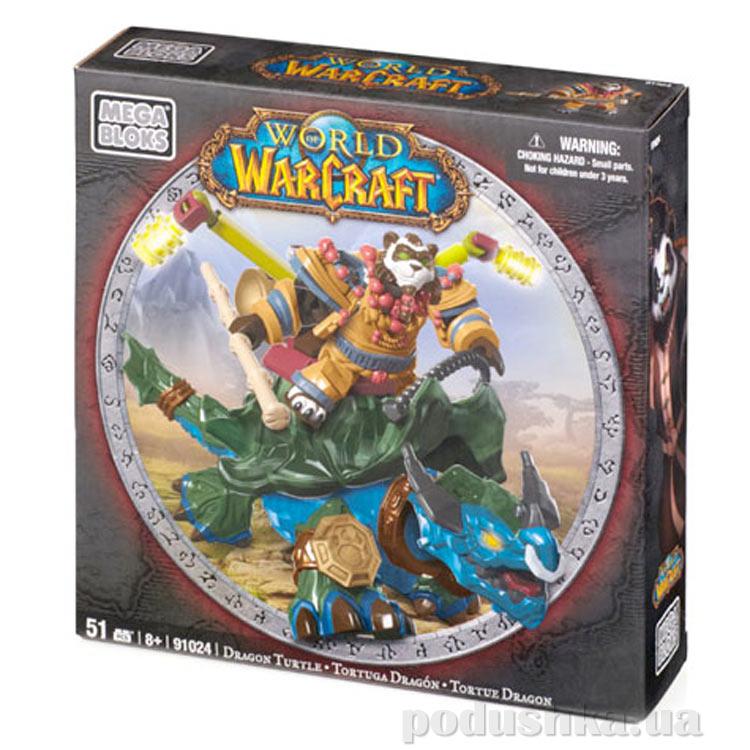 Вселенная Warcraft Альянс Набор Пандарен на драконе черепахе 91024 Mega Bloks