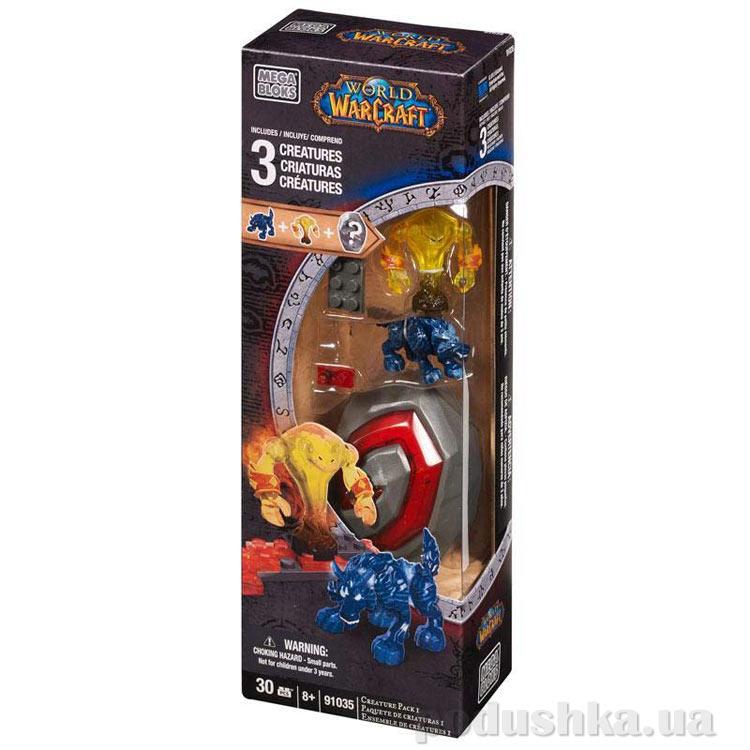 Вселенная Warcraft Набор конструктора с 3 фигурками 91035 Mega Bloks