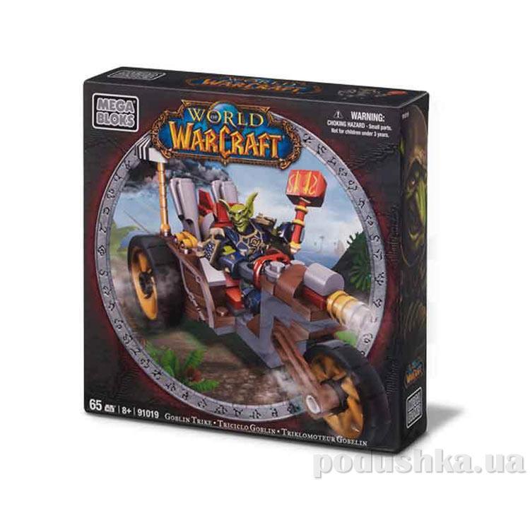 Вселенная Warcraft Орда Набор Гоблин воин на машине 91019 Mega Bloks