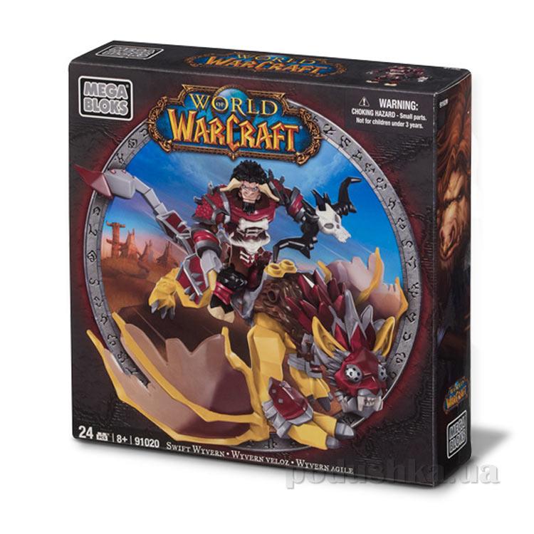 Вселенная Warcraft Орда Набор Таурен на драконе 91020 Mega Bloks