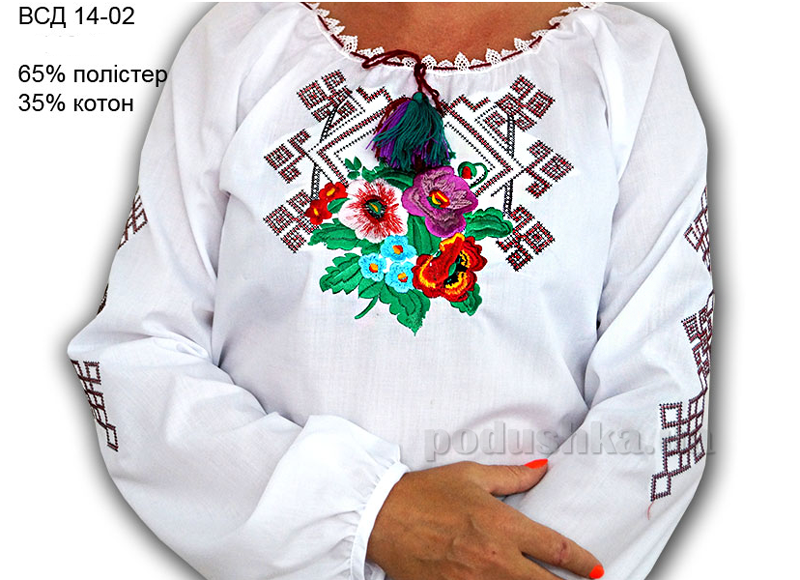 Вышитая сорочка для девочек Bimbissimi ВСД 14-02