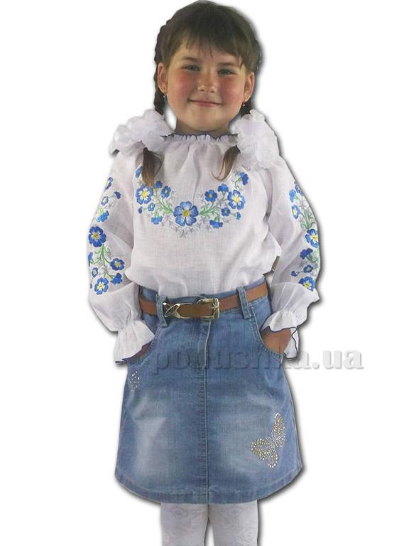 Вышитая сорочка трикотажная для девочек Bimbissimi ВСЛ-020
