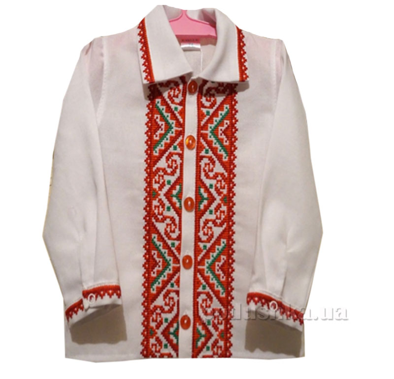 Вышитая сорочка для мальчика Bimbissimi СХ-004 красная