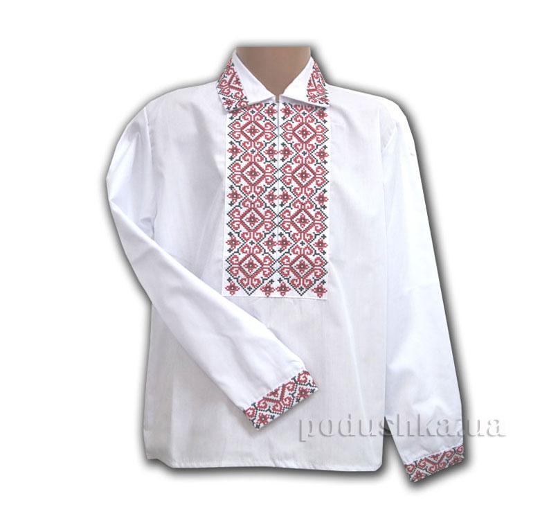 Вышитая сорочка с красной вышивкой Bimbissimi СХ-012