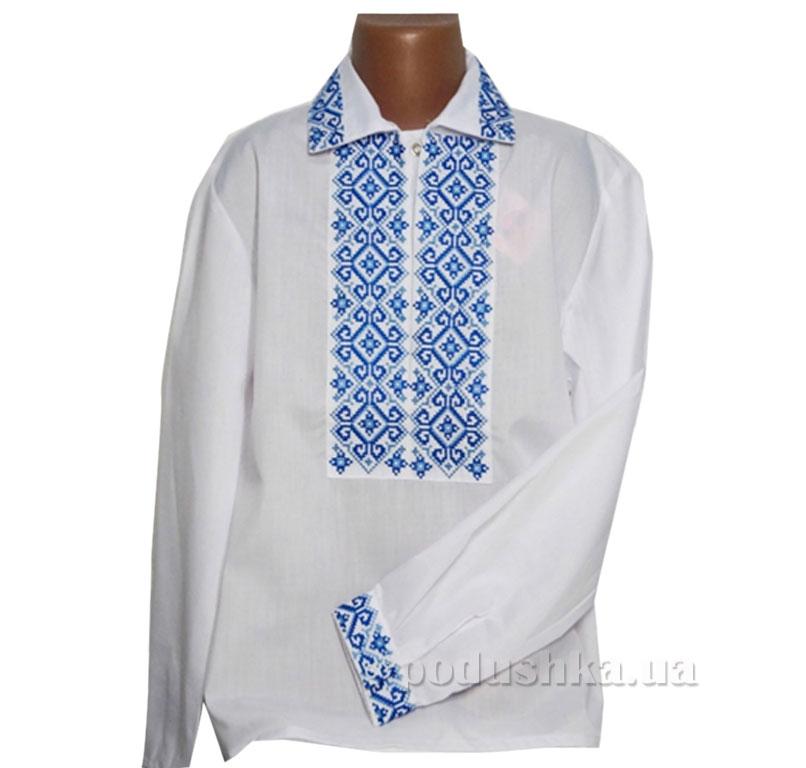 Вышитая сорочка с синей вышивкой Bimbissimi СХ-012