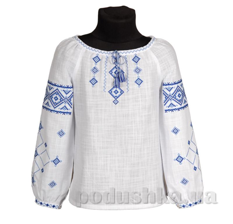 Вышиванка для девочки Ровенщина Гармония сине-голубая купить в Киеве ... 14d3af6cd0743