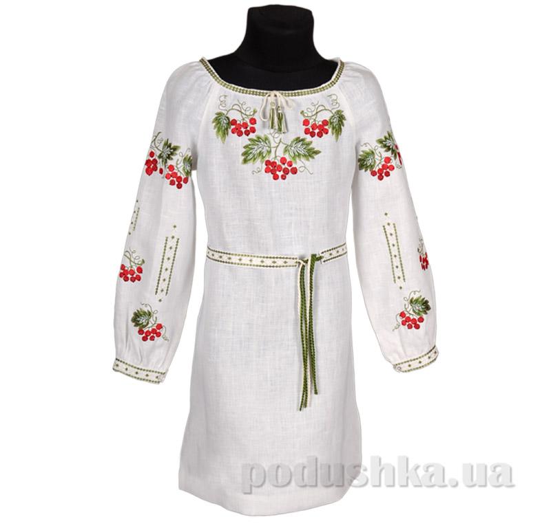 Платье с поясом для девочки Калина Гармония