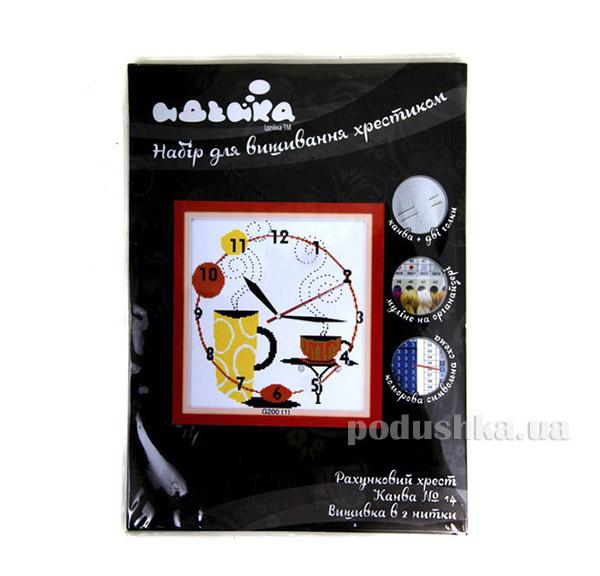 Вышивка Часы Кофейное наслаждение Идейка 06000200