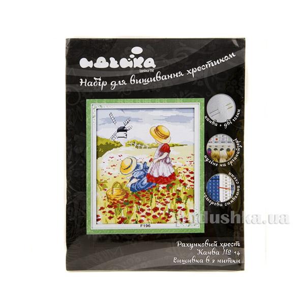 Вышивка Пейзаж Дети в поле Идейка 06000196