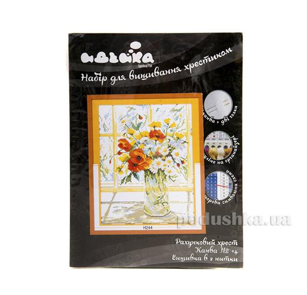 Вышивка Цветы на окне Идейка 06000244