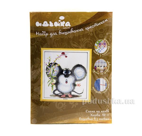 Вышивка Животные Милый мышонок Идейка 06000220